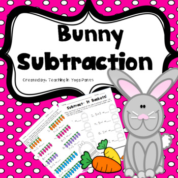 Spring Bunny Subtraction Practice