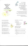 Easter/ Spring Time Songs and Poems Booklet