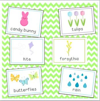 Easter & Spring Vocabulary Cards for Preschool and Kindergarten