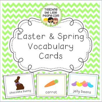 Easter & Spring Vocabulary Cards for Preschool and Kindergarten