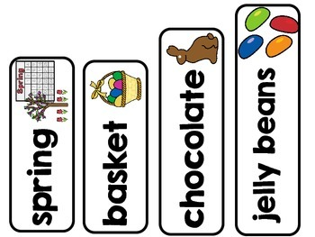 Easter Spring Vocabulary Word Wall Cards