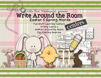 Easter & Spring Words Write Around the Room & Fun Stuff Learning Centers