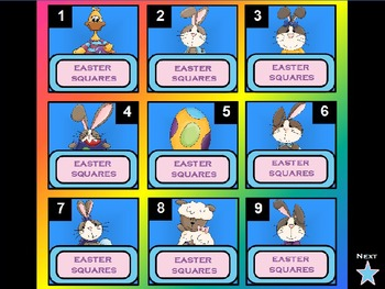 Easter Squares PowerPoint Game Template (Hollywood Squares)