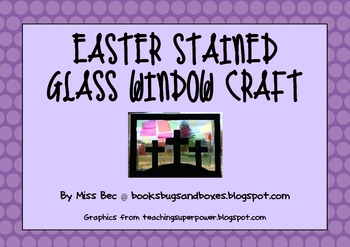 Easter Stained Glass Window Activity