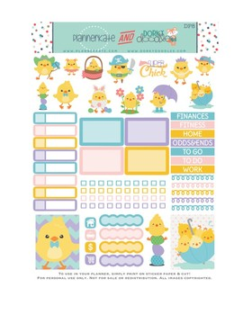Easter Stickers Planner Printable - Easter Chicks Printable Stickers