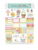 Easter Stickers Planner Printable - Easter Cupcakes and Sayings Stickers