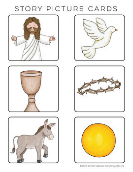 Easter Story Card Centers | Easter Writing Activities | Writing Center Christian
