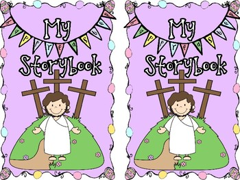 Easter Story Coloring Book with Bible Verse by JannySue | TpT
