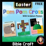 Easter Story Pom Pom Craft Activity with Scripture Posters