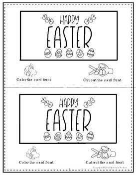 Easter Story Pop Up Card Activity Freebie