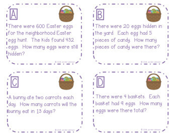 Easter Story Problems