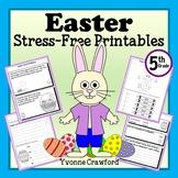 Easter NO PREP Printables - Fifth Grade Common Core