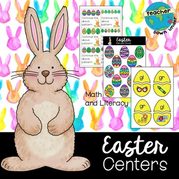 Easter Literacy and Numeracy Centers