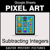 Easter - Subtracting Integers - Google Sheets Pixel Art