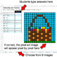 Easter - Subtracting Like Fractions - Google Sheets Pixel Art