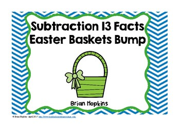 Easter Subtracting from 13 Bump