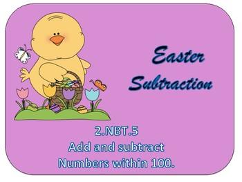 Easter Subtraction  2.nbt.5