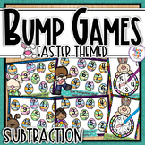 Subtraction Bump Games ~ Easter ~ subtracting numbers 1-10