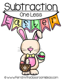 Easter Math A Quick and Easy to Prep Subtraction One Center Game