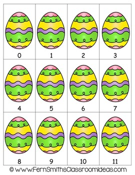 Easter Math A Quick and Easy to Prep Subtraction Two Center Game