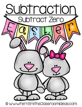 Easter Math A Quick and Easy to Prep Subtraction Zero Center Game