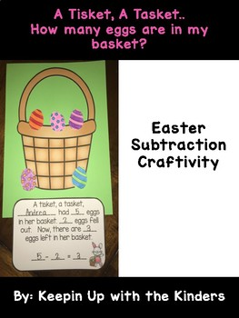 Easter Subtraction Craftivity..How many eggs are in my basket?