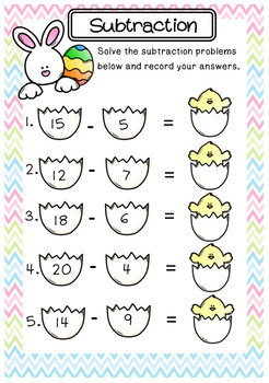 Easter Subtraction Freebie