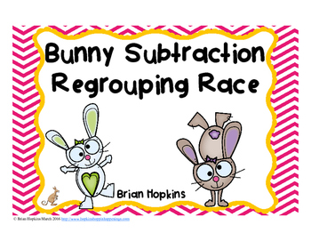 Easter Subtraction Regrouping Task Cards
