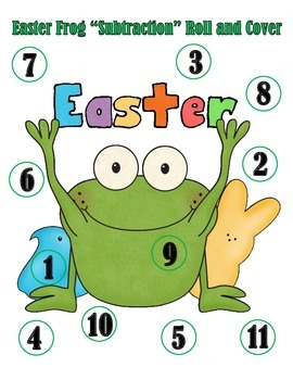 Easter Subtraction Roll and Cover