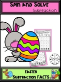 Easter Subtraction Spin and Solve Math Centers