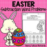 Easter Subtraction Word Problems - NO PREP, K-2