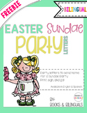 """FREEBIE Easter """"Sundae"""" Class Party Letters {Bilingual}"""