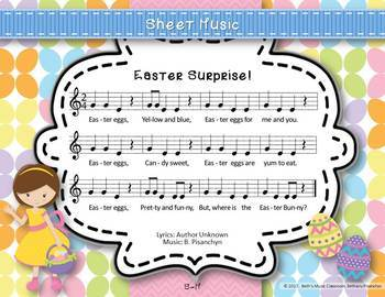 Easter Surprise! Original Song BUNDLE, 4 Levels of Melodic Practice, Orff Accomp