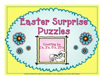 Easter Surprise Puzzles - Counting by 1's, 2's, 5's, and 10's