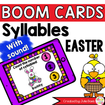 Easter Syllable Counting Digital Game Boom Cards