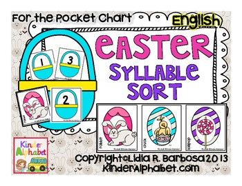 Easter Syllable Sort {Pocket Chart Activities}