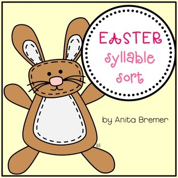 Easter Syllable Sorting Activity