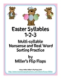 Easter Syllables 1-2-3 Multi-syllable Nonsense/Real Word Sort