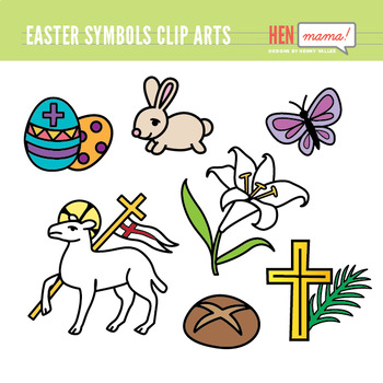 Easter Symbols Clip Arts Set (Religious)