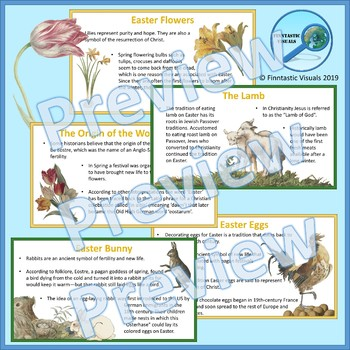 Easter Symbols and Traditions Power Point and Fact Cards