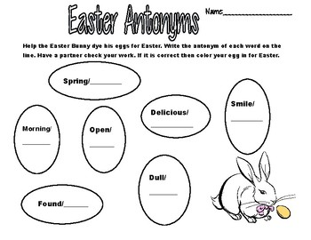 Easter Synonyms, Antonyms, and Homonyms