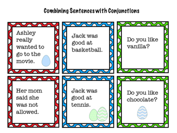 Easter Syntax: Conjunctions, Irregular Verbs, and Sentence Expansion!