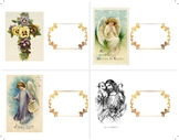 Easter Table Place/Name Cards, Vintage, Religious, Scroll