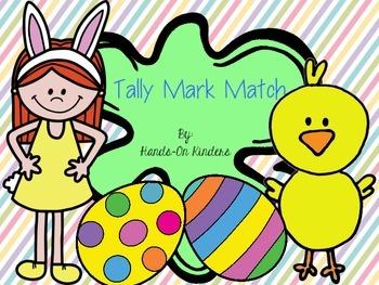 Easter Tally Mark Match