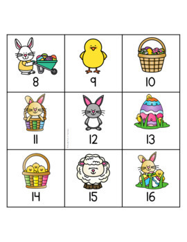 Easter Tally Mark Memory Match