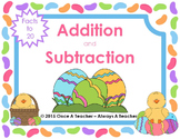 Easter Task Cards  -  Addition and Subtraction Facts to 20