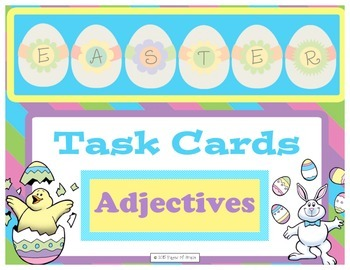 Easter Task Cards-Adjectives
