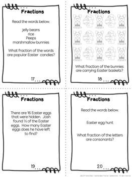 Easter Task Cards: Fractions!