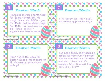 Easter Task Cards-Math