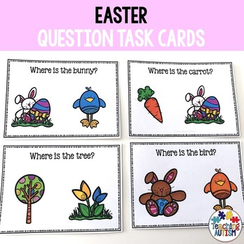 Easter Task Cards - Where is it?